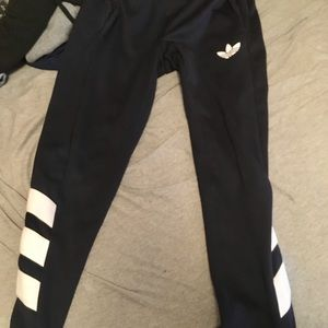 Adidas trefoil pants navy blue